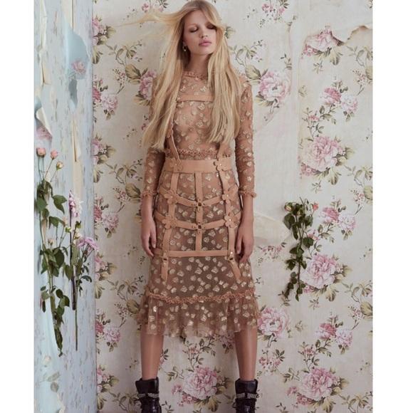 30e623d86a For Love And Lemons Dresses | For Love Lemons Golden Garden Tulle ...
